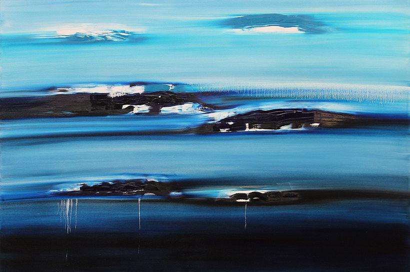 Jill Joy: Gathering Storm, 2015, oil on canvas, 48 x 72 in.