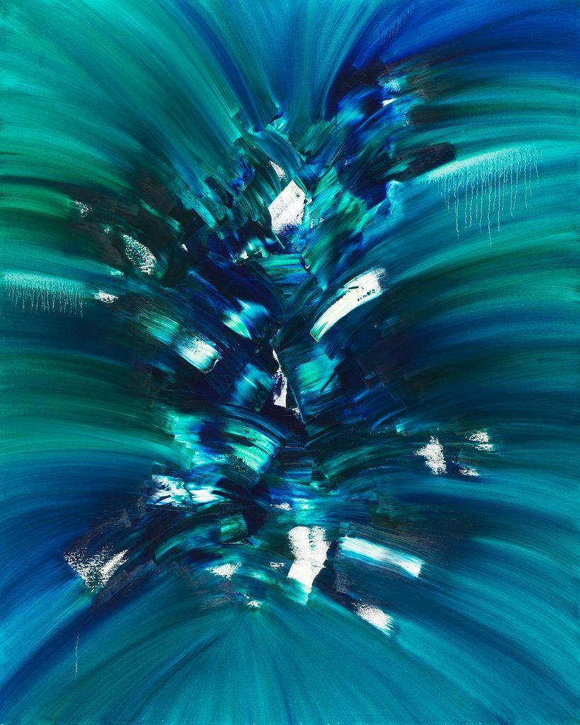 Jill Joy: Growth, 2016, oil on canvas, 60 x 48 in.