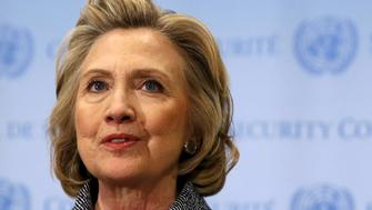 """Former U.S. Secretary of State Hillary Clinton speaks during a news conference at the United Nations in New York in this March 10, 2015 file photo.   REUTERS/Mike Segar/File Photo                  FROM THE FILES PACKAGE """"THE CANDIDATES"""" - SEARCH CANDIDATES FILES FOR ALL 90 IMAGES"""