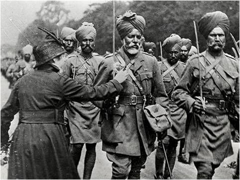 <em>In the last two world wars, all 83,005 Sikh soldiers killed and 109,045 wounded served in full bana.  They wore their art