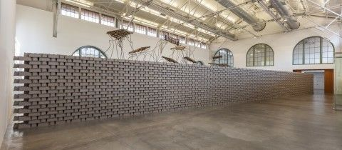 Louis Hock, <em>a wall</em>(2016). Installed at Museum of Contemporary Art San Diego, Downtown location, August 18- Septembe