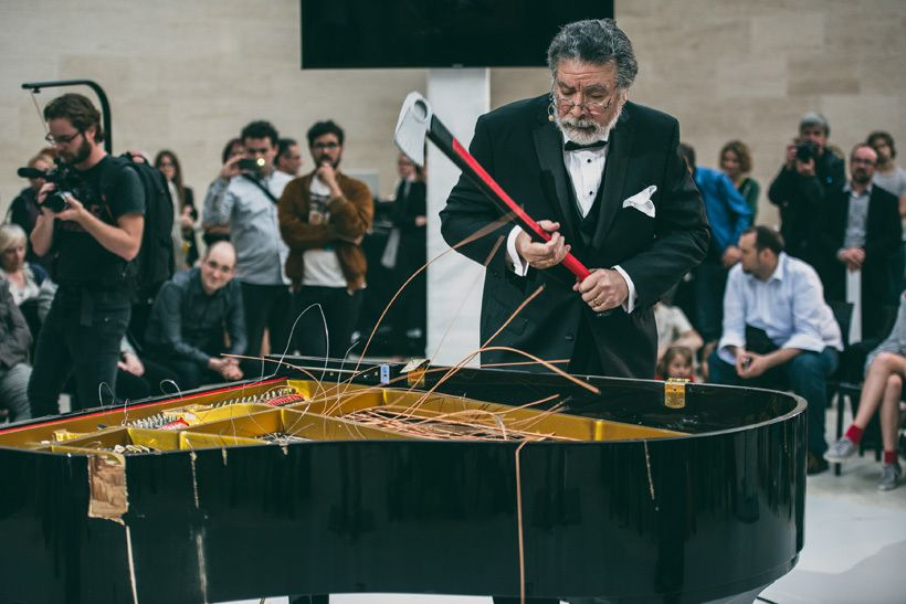 Raphael Montañez Ortiz, <em>Piano Destruction Concert: Dance Number One. </em>Mudam Luxembourg, July 11, 2014.