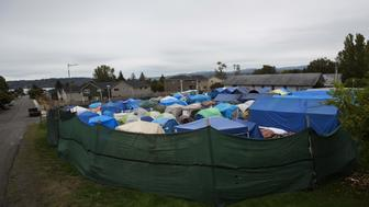 "Tents stand at SHARE/WHEEL Tent City 3 outside of Seattle, Washington October 12, 2015. SHARE and WHEEL describe themselves as self-organised, democratic organisations of homeless and formally homeless people which run several self-managed tent cities. At homeless encampments from Seattle, Washington state to Las Cruces, New Mexico, residents live away from the dangers of life on the streets, saying the stability helps them work towards their goals. Despite a shortage of affordable housing for the poor and budget constraints on social welfare programmes, many U.S. cities have clamped down on tent cities in the past few years. REUTERS/Shannon Stapleton PICTURE 16 OF 35 - SEARCH ""STAPLETON TENTS"" FOR ALL IMAGES"