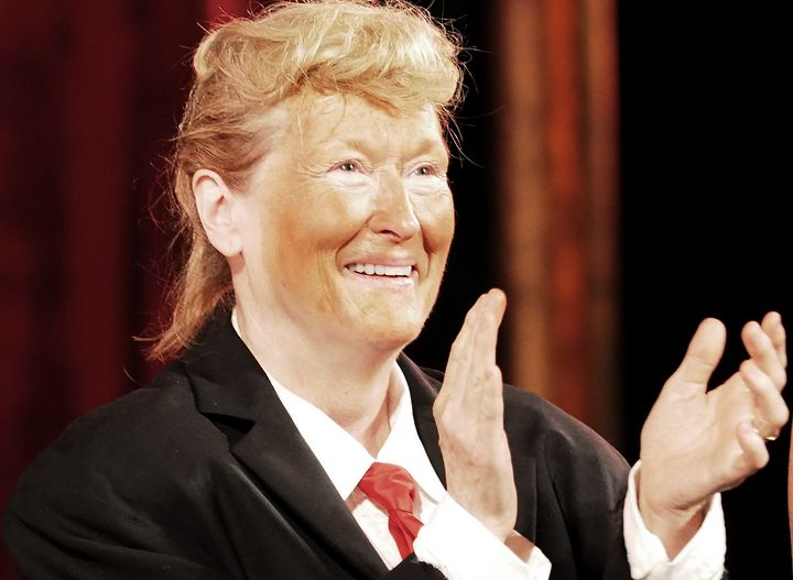 Donald Trump probably wasn't keen on this Meryl Streep portrayal at Delacorte Theater in New York on June 6, 2016.