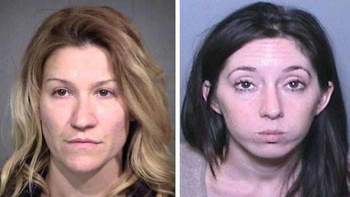 Officials say Angela Maria Diaz, left, tried to frame Michelle Suzanne Hadley in a bizarre scheme to land her husband's oneti