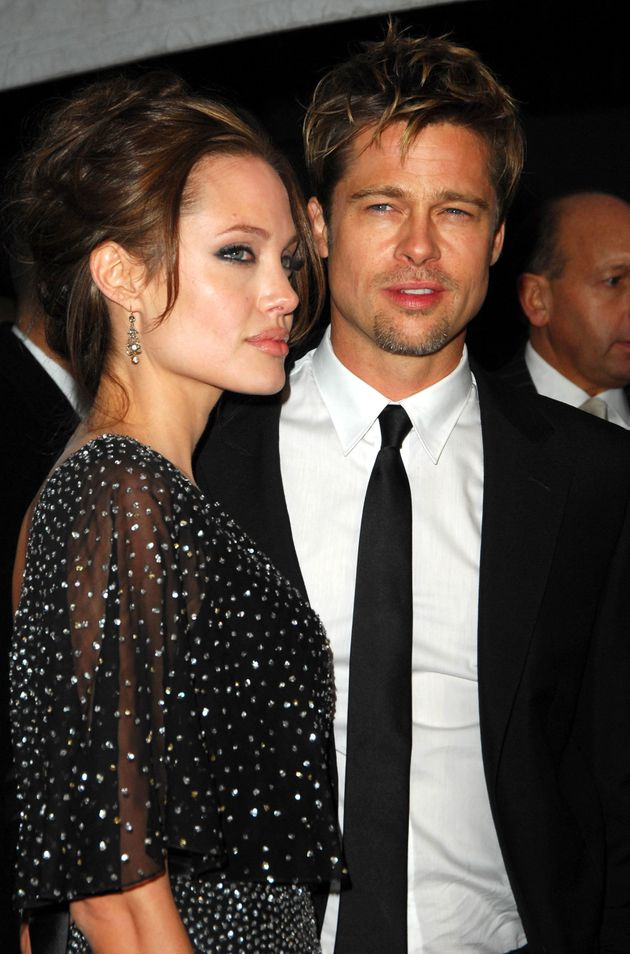 Brad and Angelina in the early days of their