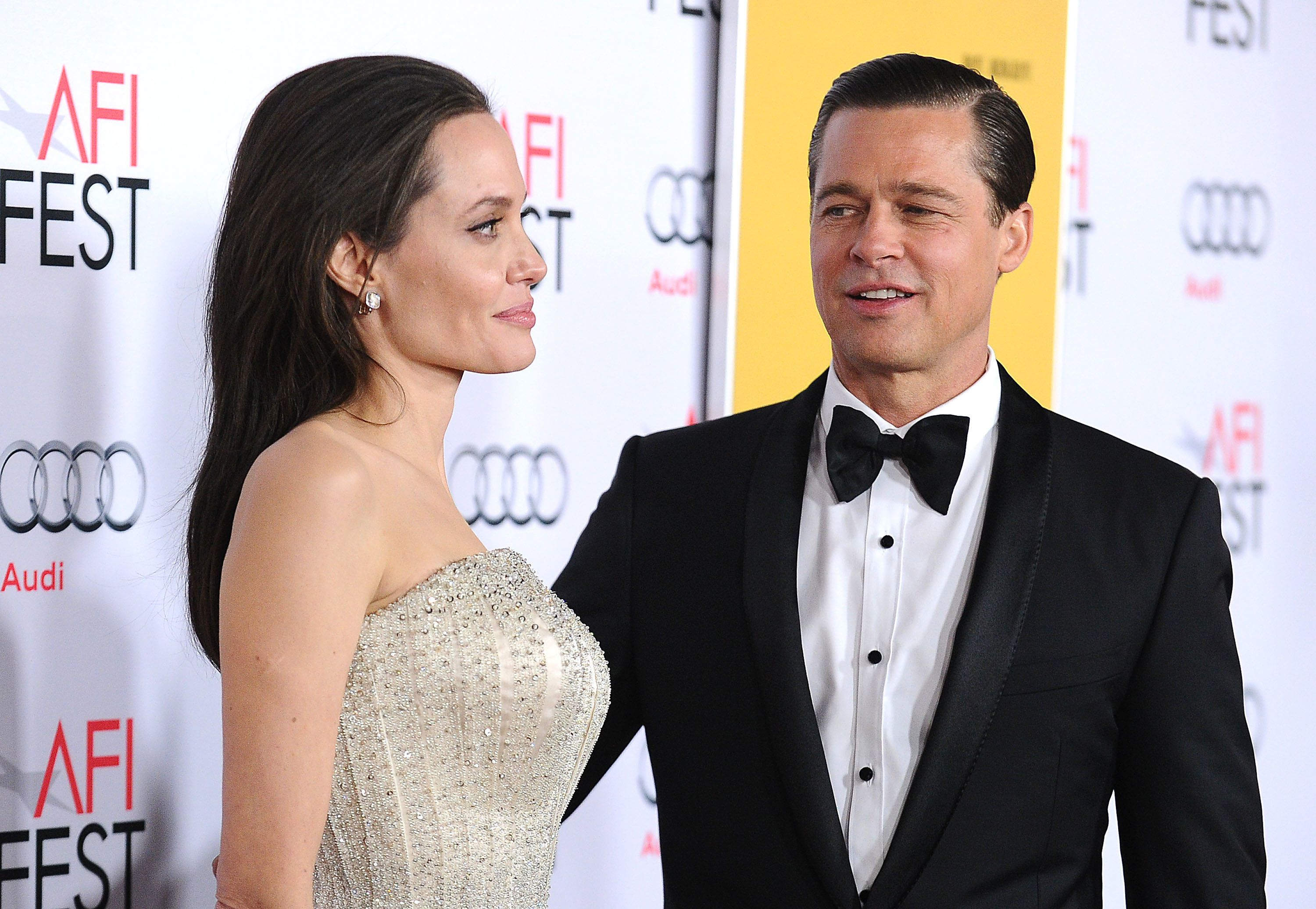 """Angelina Jolie and Brad Pitt attend the """"By the Sea"""" premiere."""