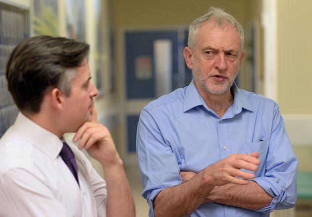 Shadow Health Secretary Jon Ashworth and Jeremy
