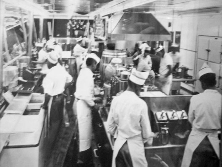 The assembly line at the original McDonald's in San Bernardino, California