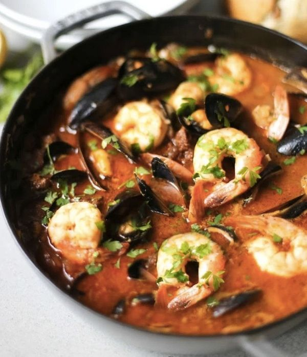 """<strong>Get the <a href=""""http://www.feastingathome.com/summer-seafood-stew/"""" target=""""_blank"""">Seafood Stew With Mussels recipe"""