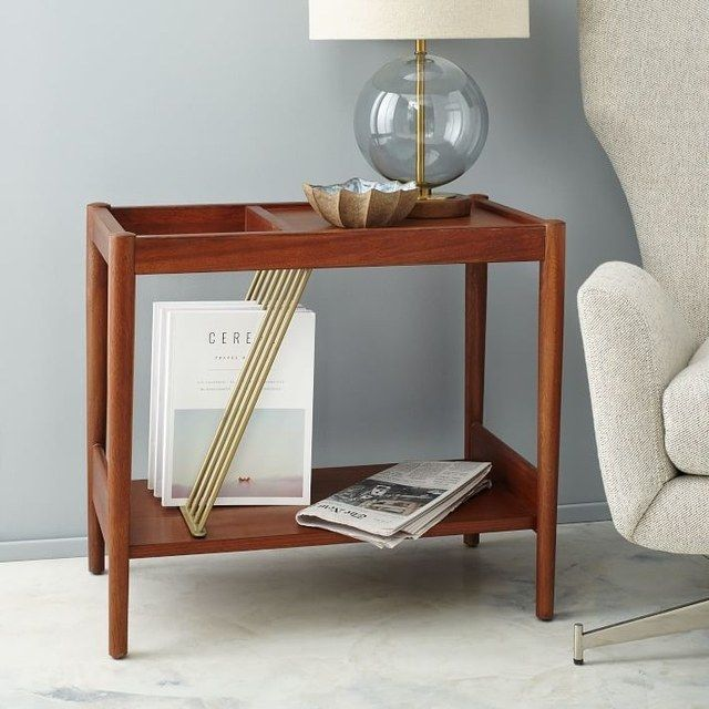 Ways To Organize Your Magazines HuffPost - West elm mid century side table
