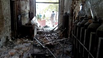 The damaged interior of the hospital in which the Medecins Sans Frontieres (MSF) medical charity operated is seen on October 13, 2015 following an air strike in the northern city of Kunduz. Thirty-three people are still missing days after a US air strike on an Afghan hospital, the medical charity has warned, sparking fears the death toll could rise significantly. AFP PHOTO        (Photo credit should read STR/AFP/Getty Images)