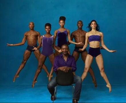 Robert Battle with company dancers A. Douthit, R. McLaren, J. Green, J Roberts, and A. Mack