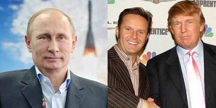 "<p>Left to right: Russian President Vladimir Putin, Reality TV producer Mark Burnett and <a href=""https://www.huffpost.com/news/topic/donald-trump"">Donald Trump</a></p>"
