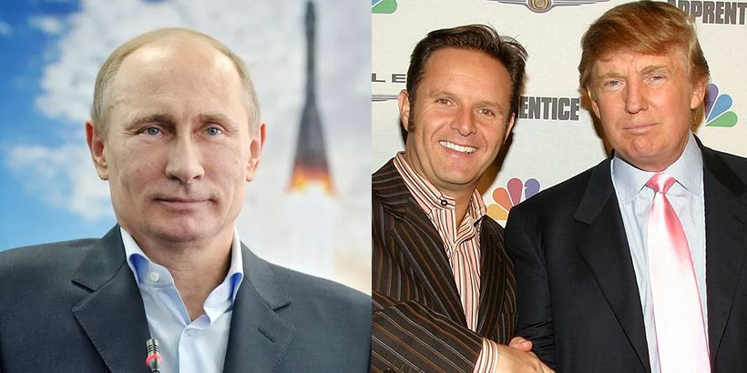 Left to right: Russian President Vladimir Putin, Reality TV producer Mark Burnett and Donald Trump