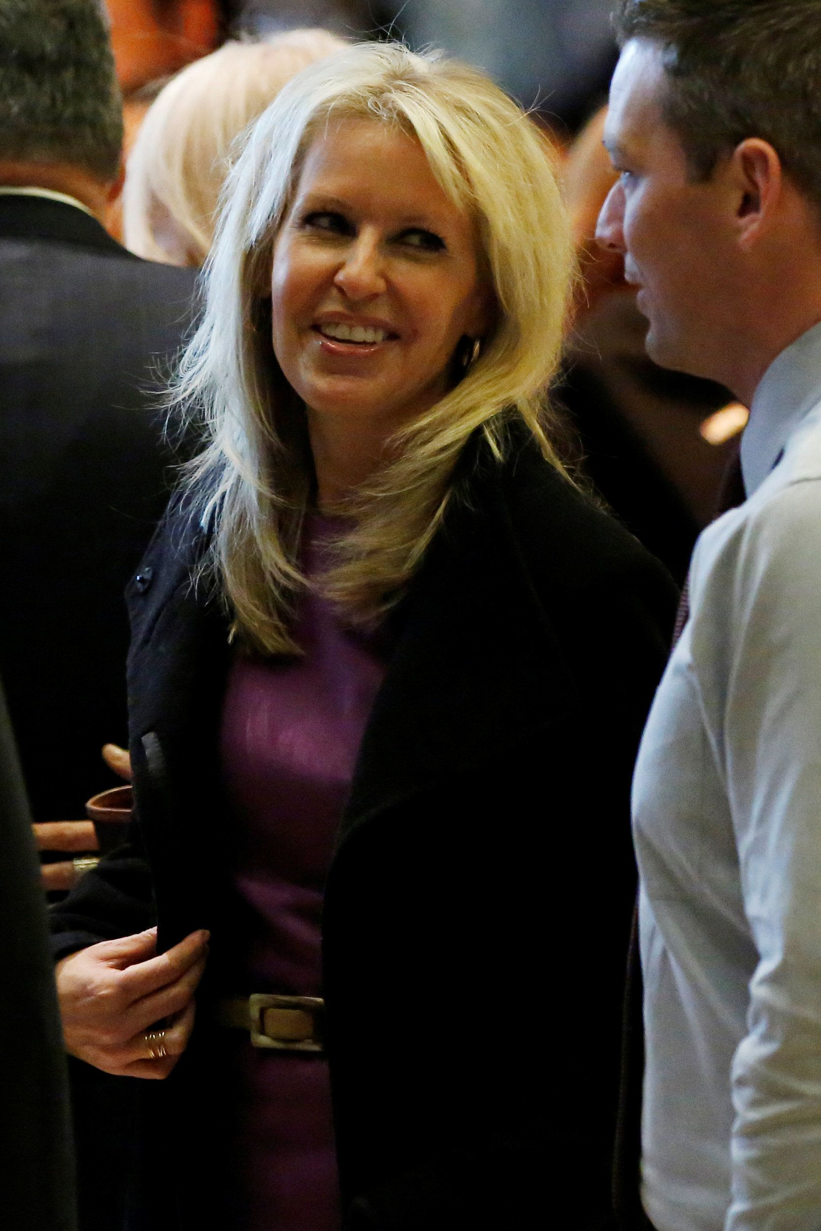 Monica Crowley, talk radio personality, stands in the lobby of Trump Tower in Manhattan, New York, U.S., December 15, 2016. REUTERS/Shannon Stapleton