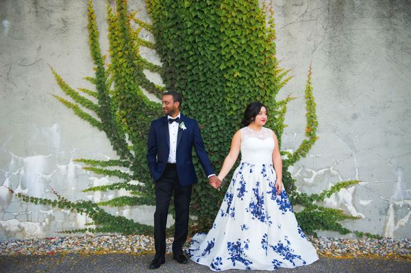"<i>Gown by <a href=""http://www.francescamiranda.com/"" target=""_blank"">Francesca Miranda</a></i>"