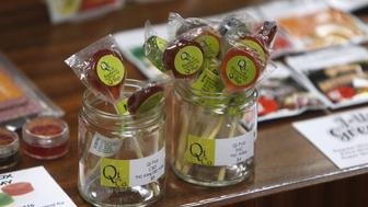Edibles are displayed at Shango Cannabis shop on first day of legal recreational marijuana sales beginning at midnight in Portland, Oregon October 1, 2015. The sale of marijuana for recreational use began in Oregon on October 1, 2015 as it joined Washington state and Colorado in allowing the sale of a drug that remains illegal under U.S. federal law. REUTERS/Steve Dipaola