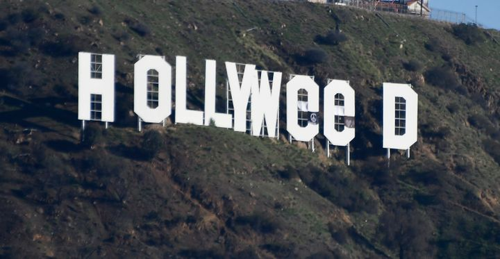 "The ""Hollywood"" sign looked a bit different the morning of Jan. 1."
