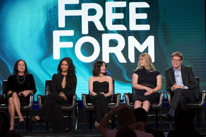 "The cast and executive producers of ""Pretty Little Liars"" at the TCA press tour panel"