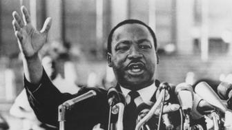 Martin Luther King, Jr., Close-Up During Speech, circa 1960's. (Photo by: Universal History Archive/UIG via Getty Images)