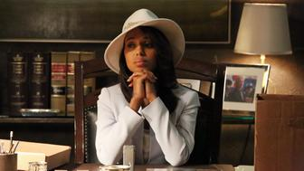 SCANDAL - 'White Hat's Back On' - With the identity of the mole now closer than ever, Olivia and her team are in very real danger. Meanwhile, the latest White House scandal pushes Cyrus to his limits, on the Season Finale of 'Scandal,' THURSDAY, MAY 16 (10:02-11:00 p.m., ET) on the ABC Television Network. (Photo by Richard Cartwright/ABC via Getty Images) KERRY WASHINGTON