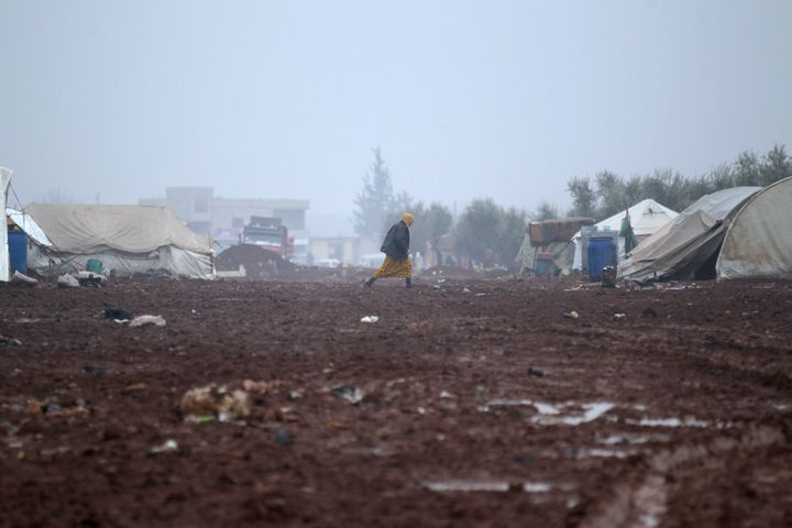 TheBab Al-Salam refugee camp, near the Syrian-Turkish border.