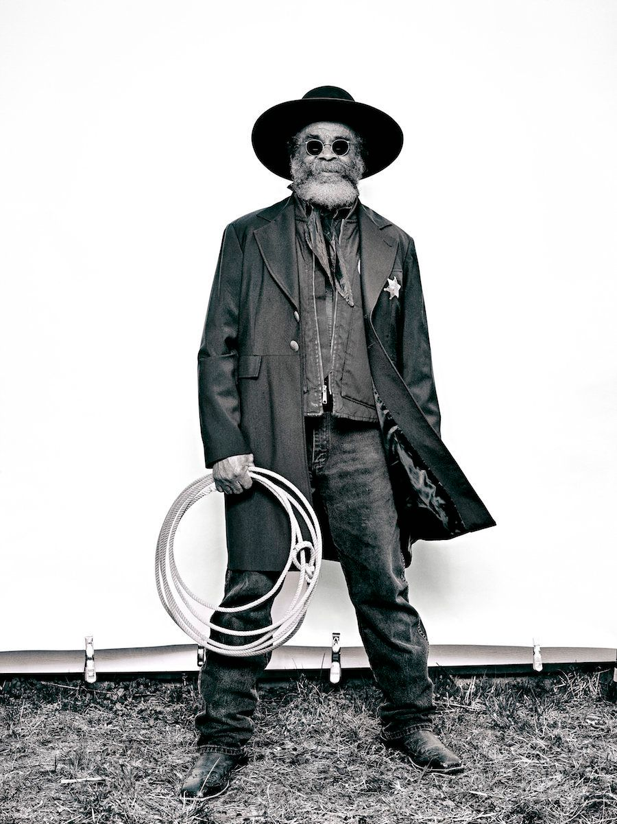 """Brad Trent, """"Ellis 'Mountain Man' Harris from 'The Federation of Black Cowboys'"""" series for The Village Voice, 2016 ink jet print, 22 × 30 in., courtesy the artist"""
