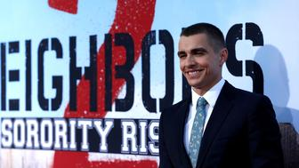 "Cast member Dave Franco poses at the premiere for the movie ""Neighbors 2: Sorority Rising"" in Los Angeles, U.S., May 16, 2016.   REUTERS/Mario Anzuoni"