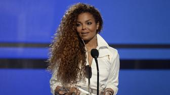 """Janet Jackson accepts the Ultimate Icon Award during the 2015 BET Awards in Los Angeles, California, in this file picture taken June 28, 2015. Hinting at a possible pregnancy, Janet Jackson announced on April 6, 2016 that she was temporarily halting her world tour because of a """"sudden change"""" that required her and her husband to plan a family.  REUTERS/Kevork Djansezian/Files"""
