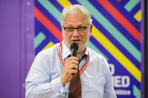 Jon Lansman, Chair of Momentum, speaks at The World Transformed The 4-day fringe event, organised by...
