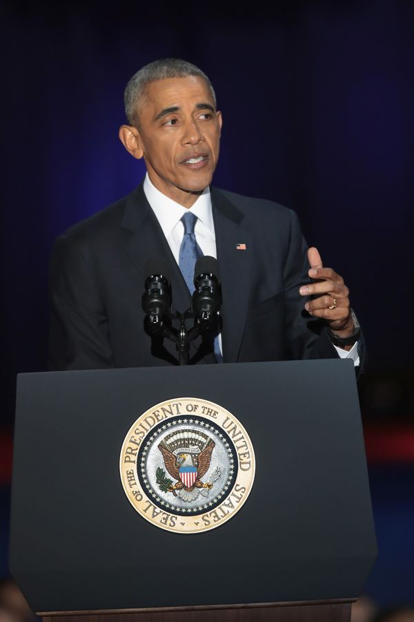 """Obama blasted """"zero-sum"""" politics as he drew a sharp contrast with his successor in his farewell address, acknowledging that"""