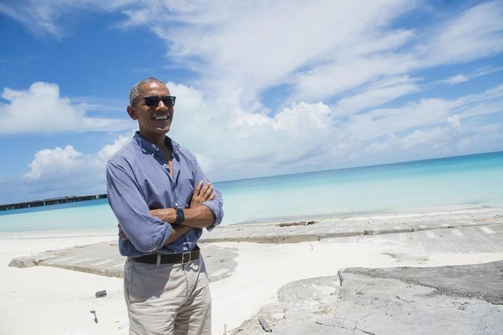 President Obama visits Papahanaumokuakea, Hawaii- the largest ecologically protected area in the world.