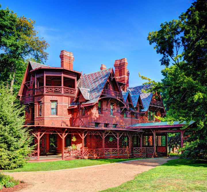 Mark Twain's idyllic home in Hartford, Connecticut.