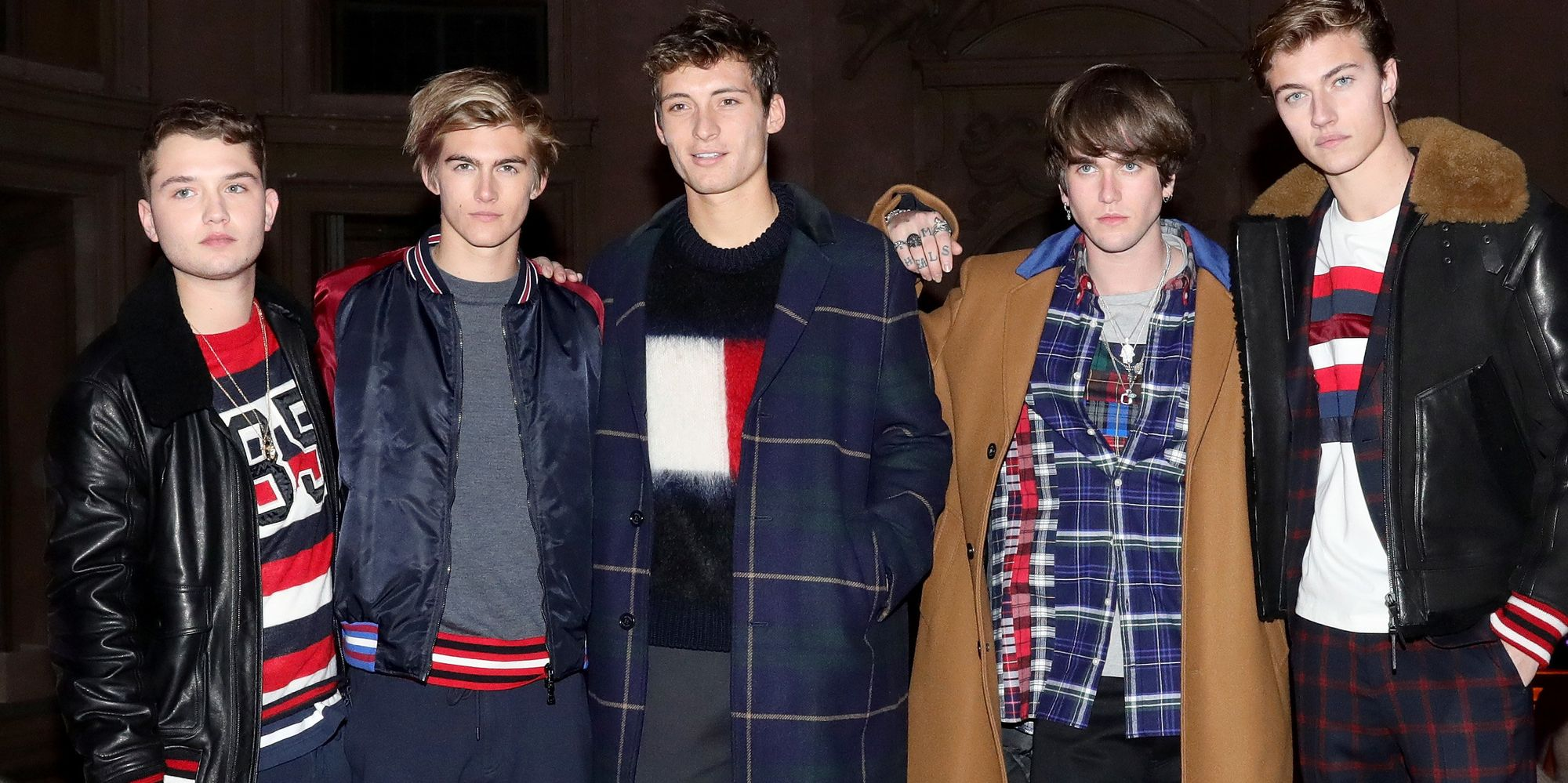 Jude Law, Cindy Crawford And Daniel Day-Lewis' Sons Model For Tommy Hilfiger At Florence Presentation