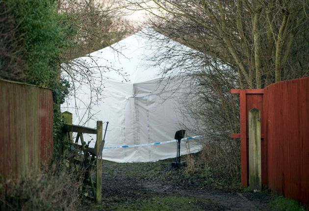 A police tent was erected in Woodthorpe where Katie was