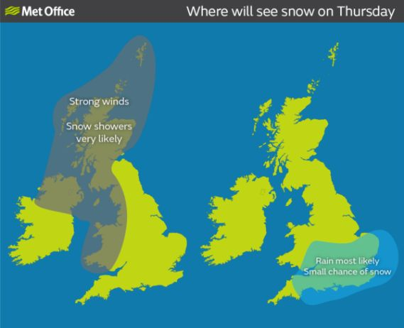 Snow Forecast For UK And London Amid Wintry Polar