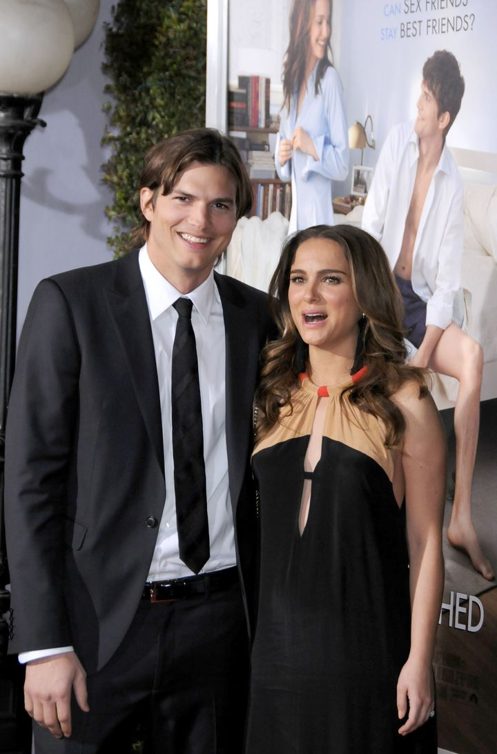 "Ashton Kutcher and Natalie Portman at the Los Angeles Premiere of ""No Strings Attached"" in 2011 -- the same year the act"