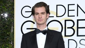 BEVERLY HILLS, CA - JANUARY 08:  74th ANNUAL GOLDEN GLOBE AWARDS -- Pictured: Actor Andrew Garfield arrives to the 74th Annual Golden Globe Awards held at the Beverly Hilton Hotel on January 8, 2017.  (Photo by Kevork Djansezian/NBC/NBCU Photo Bank via Getty Images)
