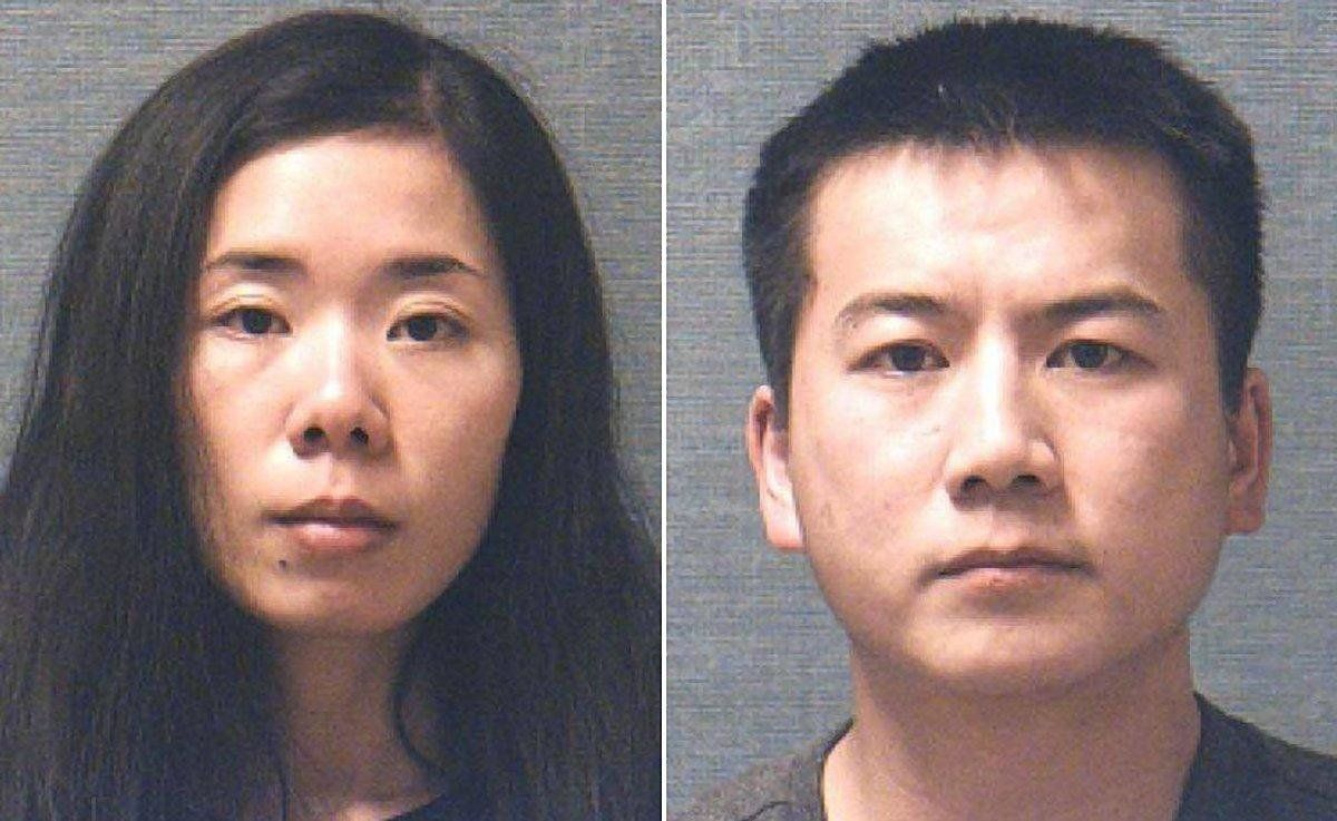 Mingming Chen and Liang J Zhao ach being held on a $5 million bond with their next hearing scheduled for later this mont