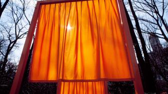UNITED STATES - AUGUST 30:  The Gates, a site-specific work of art by Christo and Jeanne-Claude in Central Park, New York City (Photo by Carol M. Highsmith/Buyenlarge/Getty Images)