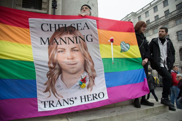 Demonstration for Chelsea Manning in