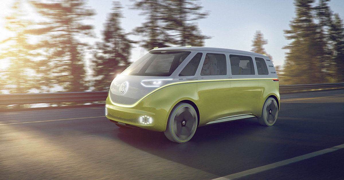 The Vw Camper Van Is Back And It S Electric