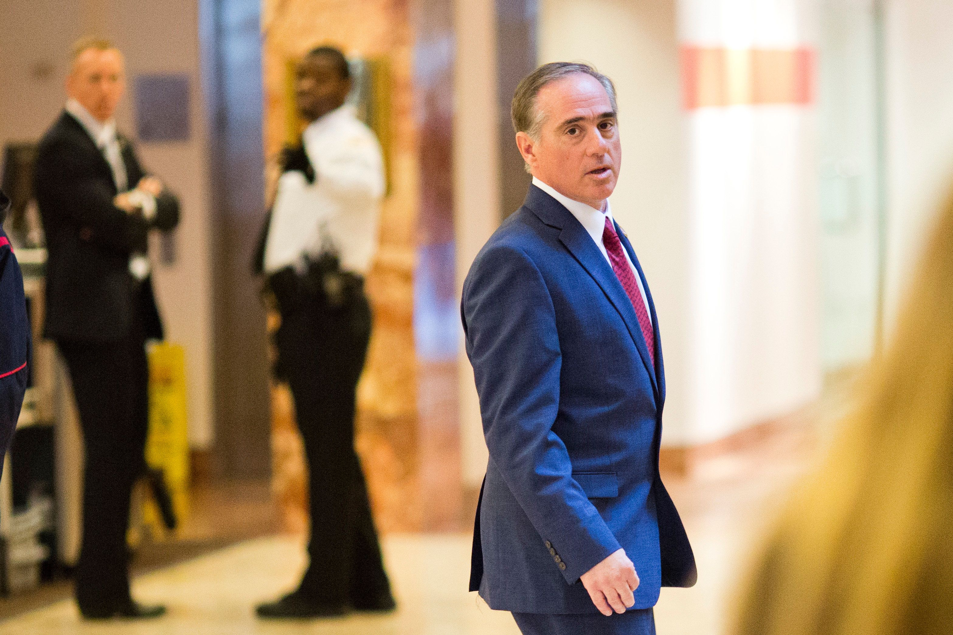 David Shulkin, Under Secretary of Health for the US Department of Veterans Affairs, leaves Trump Tower in New York City, New York on January 9, 2017. / AFP / DOMINICK REUTER        (Photo credit should read DOMINICK REUTER/AFP/Getty Images)