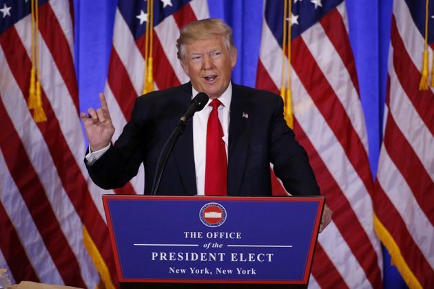 Beginning his first press conference sincethe US election in November, Trump praised media organisations...