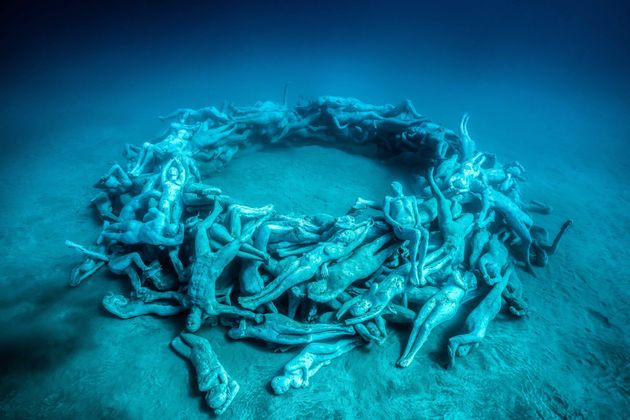 """""""Human Gyre"""" includes 200 life-size beings woven into a circle, reminding us we're..."""