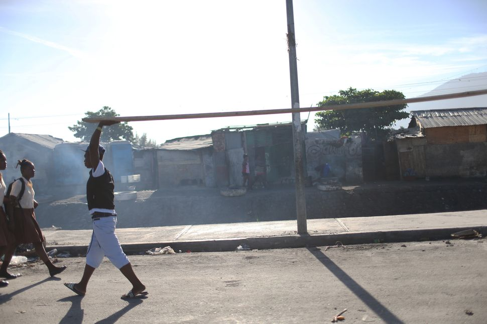 People in Haiti continue to rebuild and re-establish their daily routines on Jan. 13, 2015.
