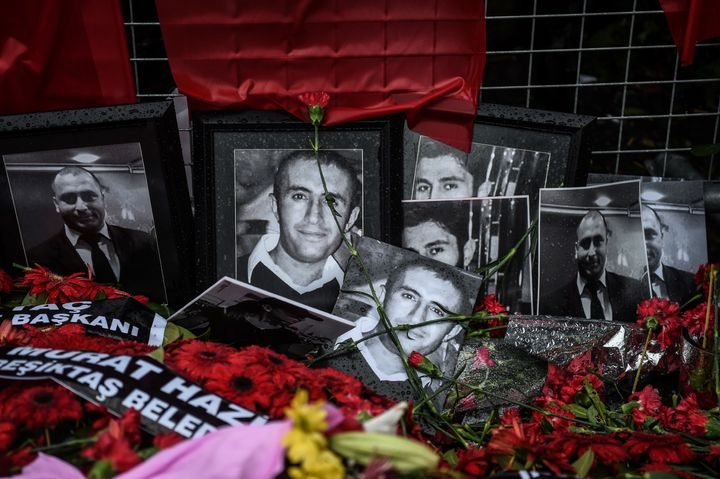 Flowers and pictures of victims wereplacedin front of the Reina nightclubfollowing the New Year's Eve attac