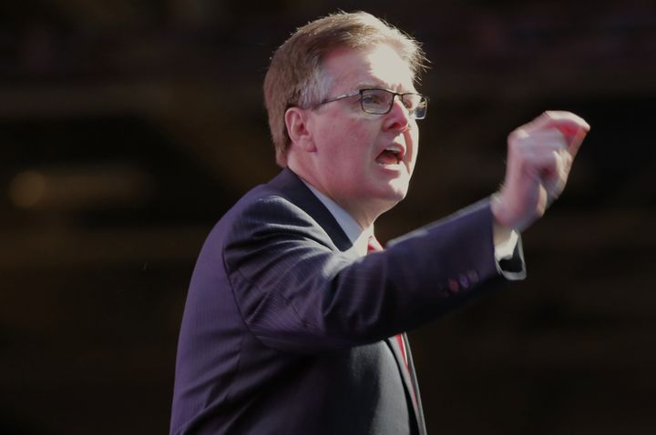 Lt. Gov. Dan Patrick speaks at the Republican Party of Texas State Convention, May 12, 2016, in Dallas. He considers passing