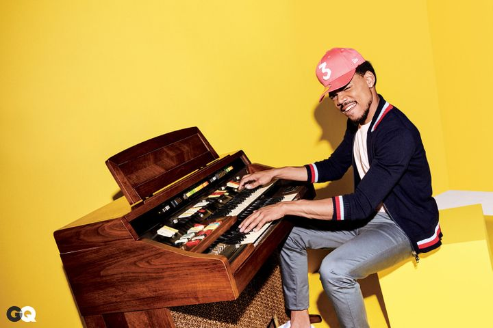 Chance the Rapper poses for GQ's February issue.